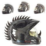 Warhawk/Mohawk Rubber Saw Blade Helmet Accessory Piece (Helmet Not Included) - http://foldingmotorcycletrailer.com/warhawkmohawk-rubber-saw-blade-helmet-accessory-piece-helmet-not-included/