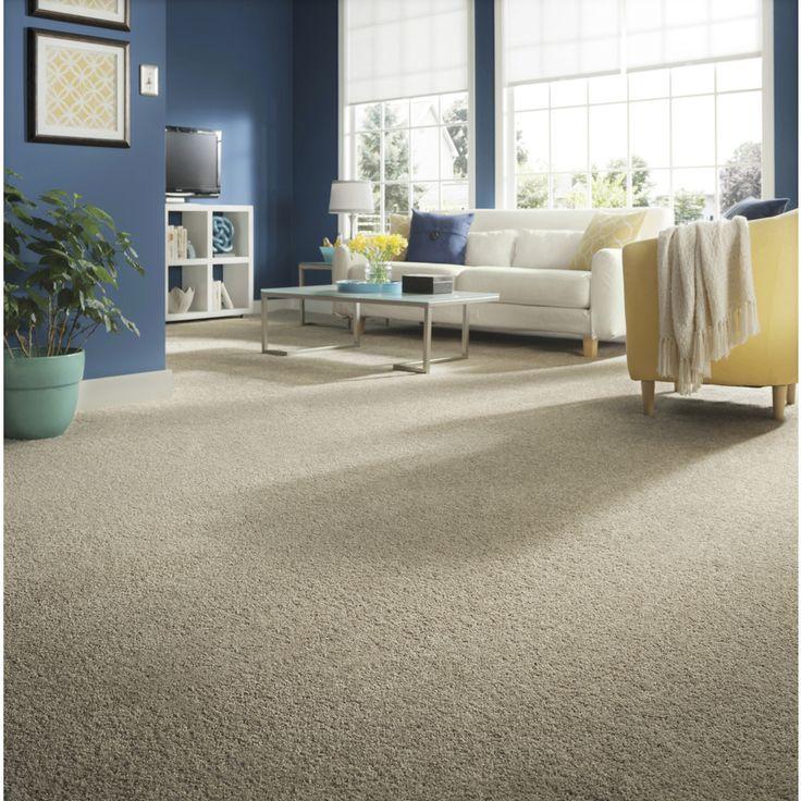 STAINMASTER Essentials Stock Carpet Pale Clay Textured Indoor Carpet