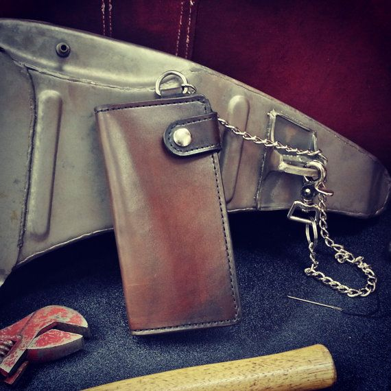 Customize Your Handmade Custom Leather Biker Wallet by J10Customs, $120.00