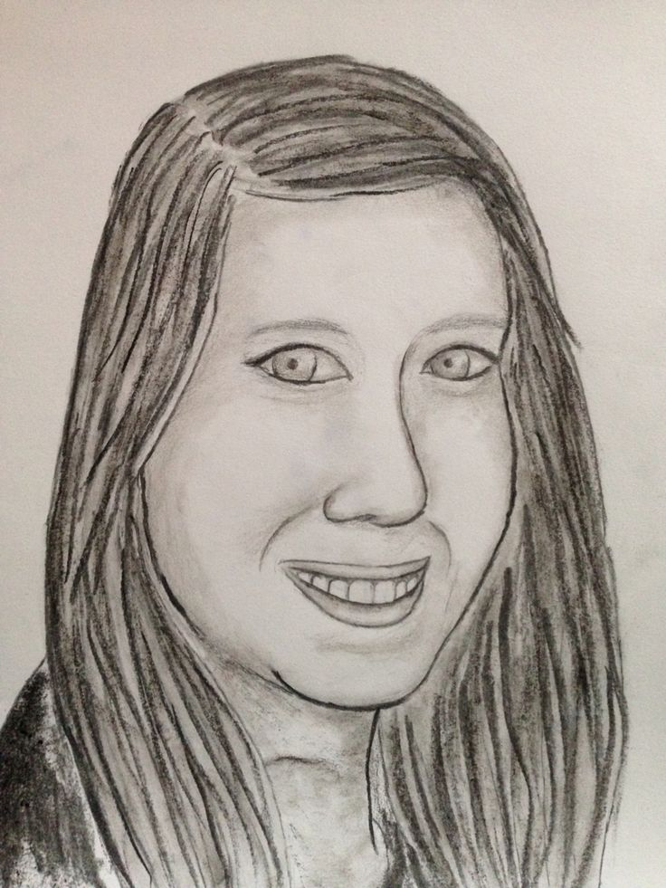Bianca, houtskool op papier