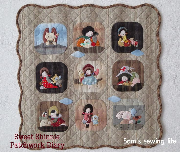 Sam's sewing life: 壁饰 ~ Shinnie 女孩与宠物的贴身日记