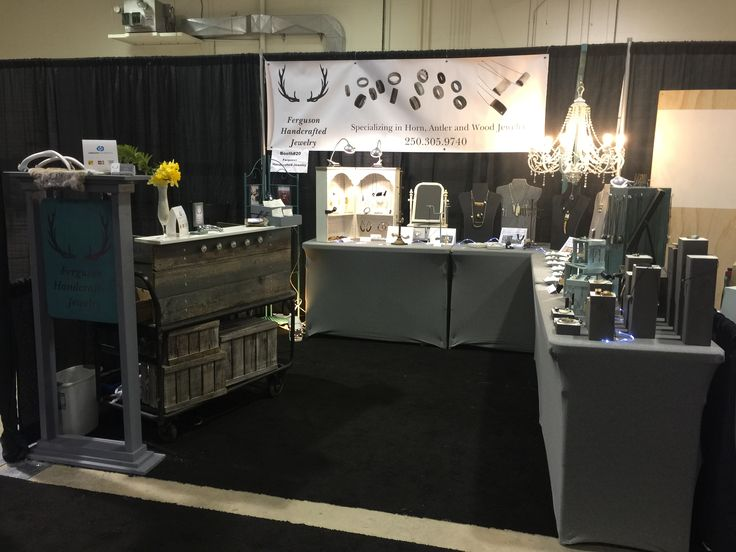 Day one at Craft Culture in Kelowna. Ferguson Handcrafted Jewelry. Booth Design.