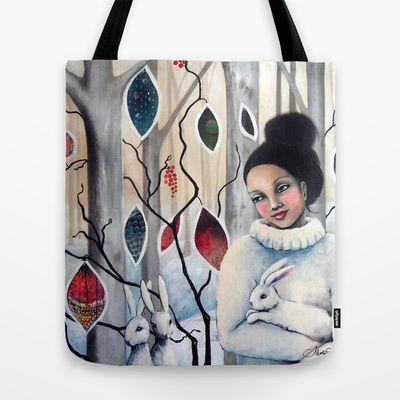 A winters tale Tote Bag by Malin Östlund - $22.00