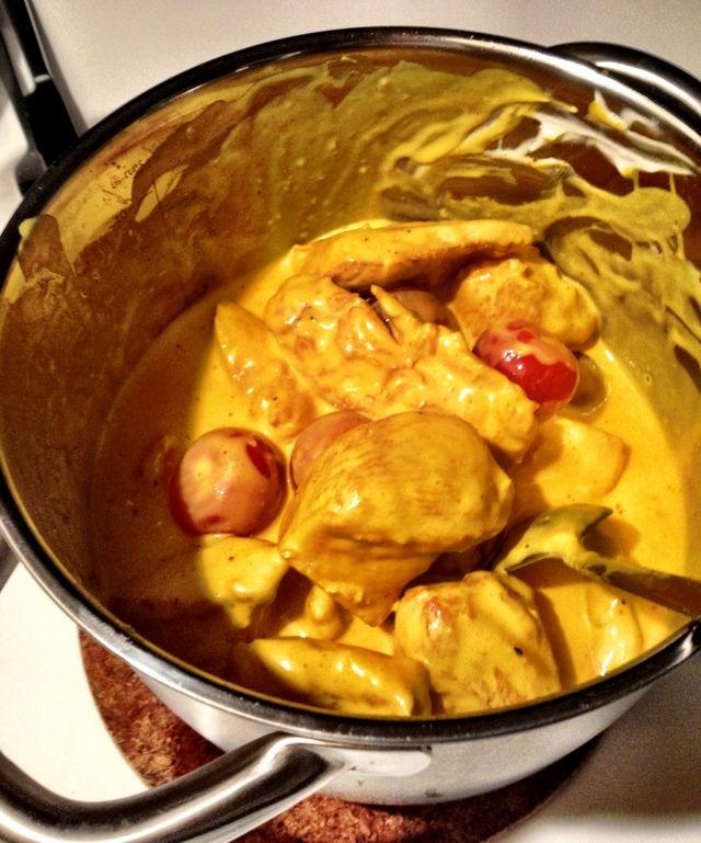LCHF-kyckling med saffran #lchf