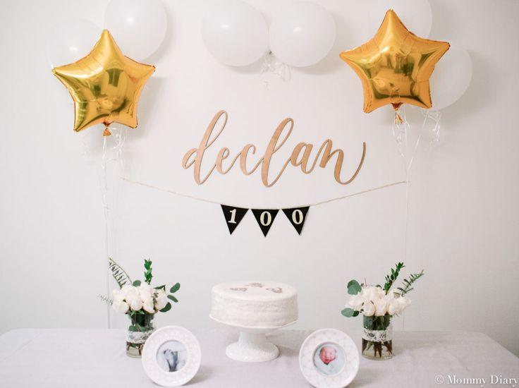 Celebrating Baby D's 100 Days- baek il, baby 100 days, 100th day, Korean 100 days