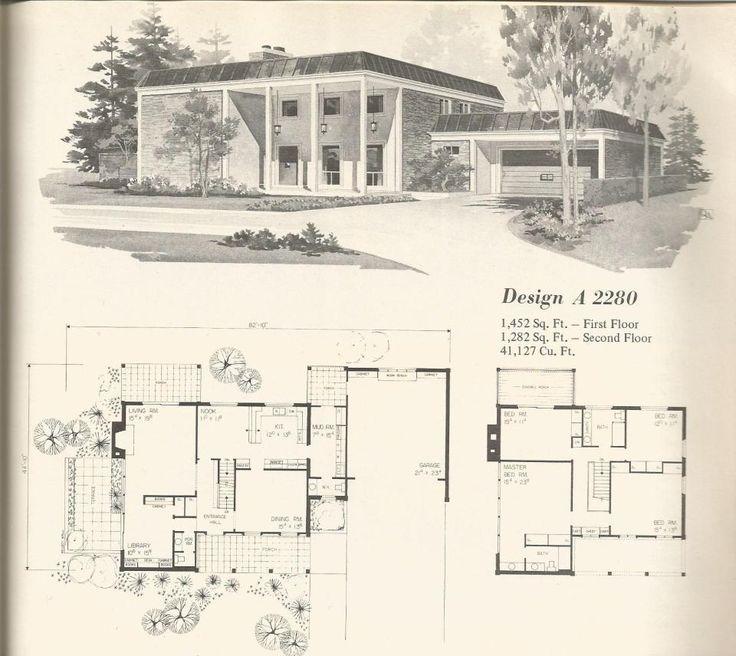 Vintage house plans mid century homes design a 2280