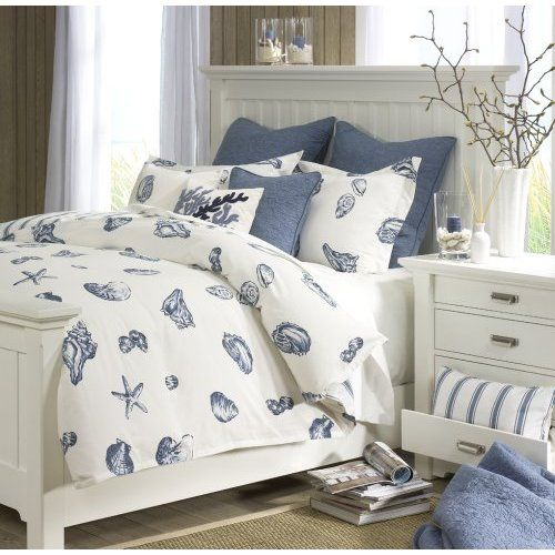 Coastal Living........I made a coverlet similar to this for the guest room using discounted fabric for the top, a thrift store, king flat, barely used white bed sheet (washed in hot water W/bleach) for the under cover.  My guest will never know.....