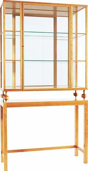2077 vitrinskap ; the display case 2077 was designed 1946 material : Mahogany ; H 169 cm, W 90 cm, D 31 cm