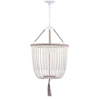 Safavieh Lighting 18-Inch Adjustable Beaded 3-Light Angie Cream Pendant Lamp | Overstock.com Shopping - The Best Deals on Chandeliers & Pendants