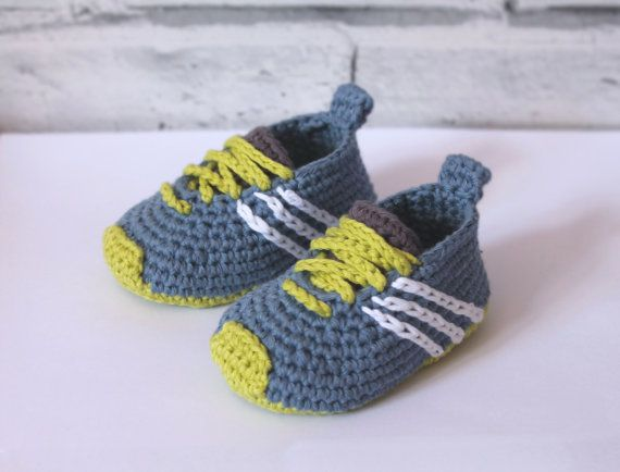 "CROCHET PATTERN baby sneakers – ""Federation Runners"" – cute modern baby patterns, babyshower trending ideas, gift, girl boy present"
