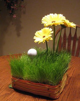 golf centerpieces for tables | Golf centerpiece