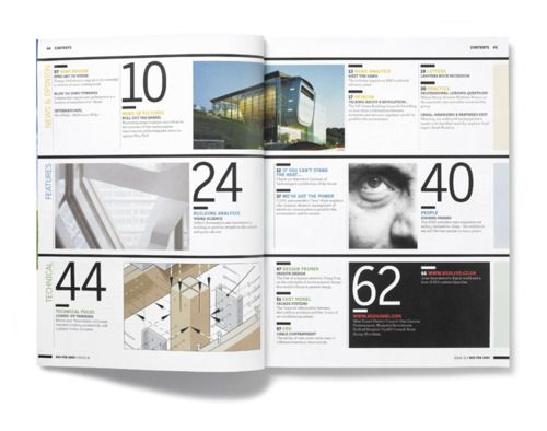 Beautiful layout and typography in Studio8 Design's for Building Sustainable Design Magazine launch issue