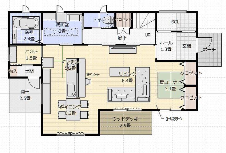 間取り成功例40坪 横並びキッチンの家事と子育てを楽しむ家 アトリエコジマ 注文住宅理想の間取り作りと失敗しないアイデア 実例集 間取り 40坪 間取り 間取り 30坪