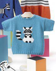 Tijdschrift Baby 80 Lente / Zomer   45: Baby Trui   Donker turquoise / Zwart / Wit