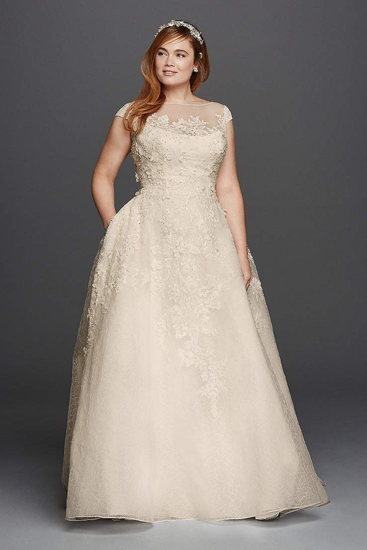 651 best brautkleider plus size images on pinterest wedding davids bridal has beautiful plus size wedding dresses that come in a variety of sizes ombrellifo Image collections