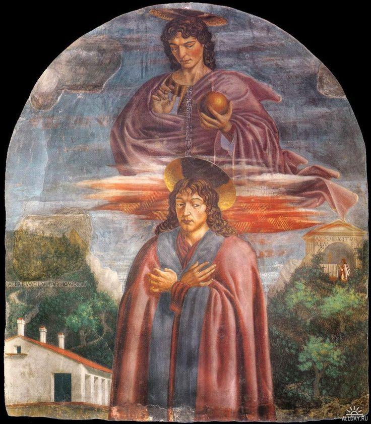 Фреска в церкви Сантиссима Аннунциата «Спаситель со св. Юлианом».