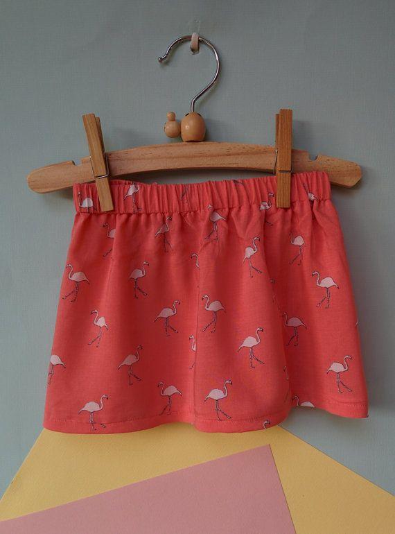 baby rokje met flamingo's