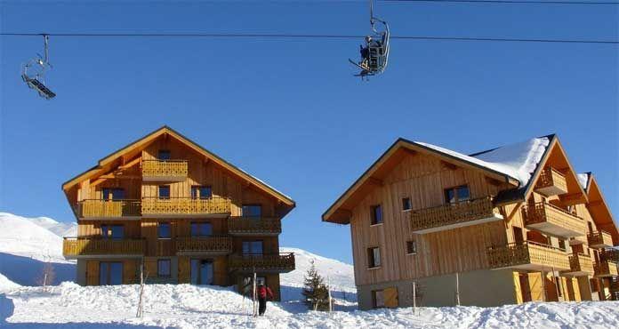 Populaire appartementen aan de piste in La Toussuire: Chalet-appartement Goélia