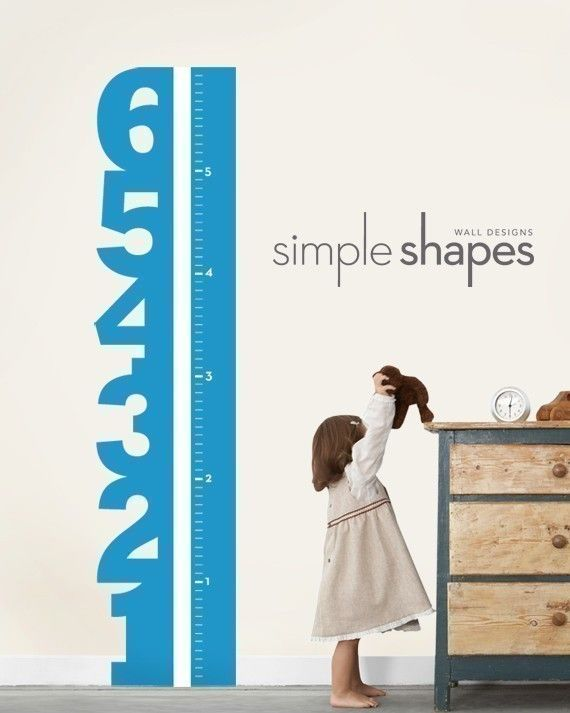 Growth Chart Numbers Children's Vinyl Wall Decal by SimpleShapes