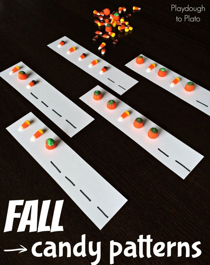 fall candy patterns for kids fun and tasty way to practice patterns - Halloween Art For Kindergarten
