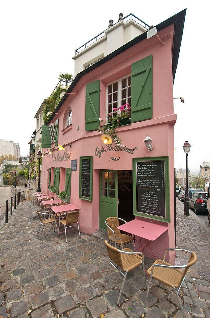 La maison rose montmartre paris cafe 39 s shop 39 s for La maison du cafe paris