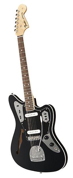 FENDER Special Edition Jaguar Thinline Electric Guitar Black Rosewood Fingerboard | Musician's Friend