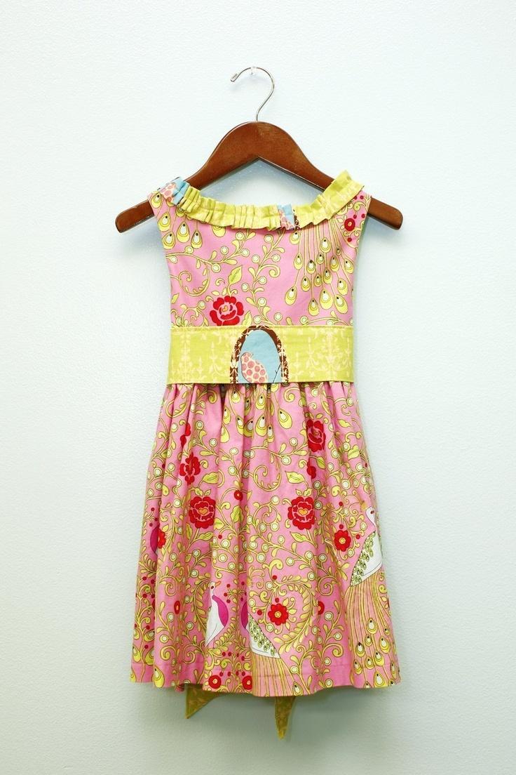 Party Dress- Custom Boutique Dress.Vintage Ruffle Dress in Bird Print. $54.00, via Etsy.