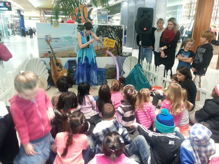 The Sea Fairy entertaining the littlies at Milford Centre July School Holidays 2013