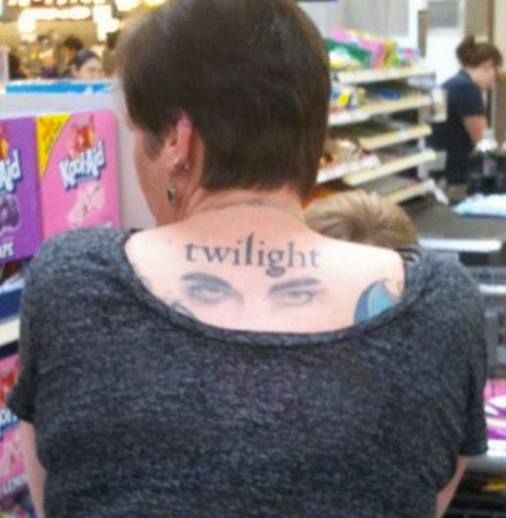I don't mean to criticize, but I'd hazard a guess that she'll regret that tattoo in her twilight years.