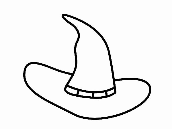 Witch Hat Coloring Page Luxury Halloween Witch Hat Coloring Pages Sketch Coloring Page In 2020 Witch Hat Coloring Pages Halloween Witch Hat