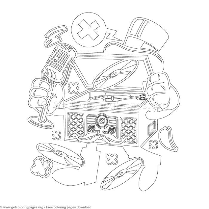 Cartoon Classic Turntable Coloring Pages Getcoloringpages Org Coloring Coloringbook Coloringpages Colo Coloring Pages Coloring Books Free Coloring Pages