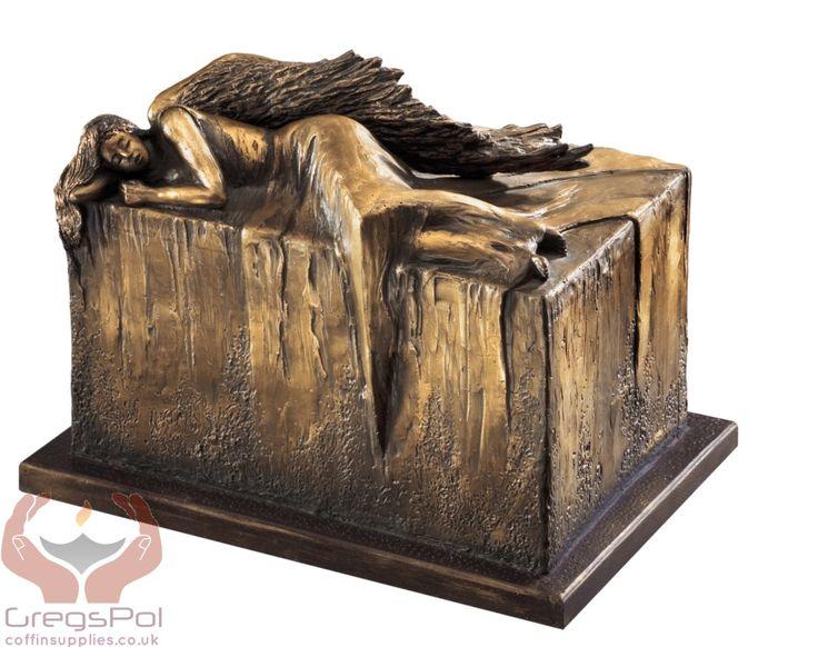 Unique Artistic Urn Angel at Rest Cremation Urn Funeral Urn For Adult (Art12B) by ArtistCremationUrns on Etsy