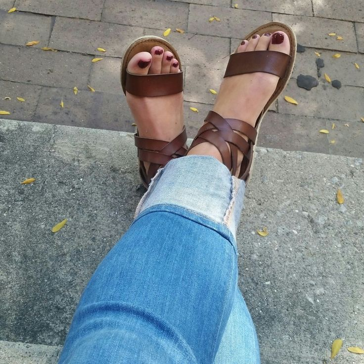 blowfish sandals, leather