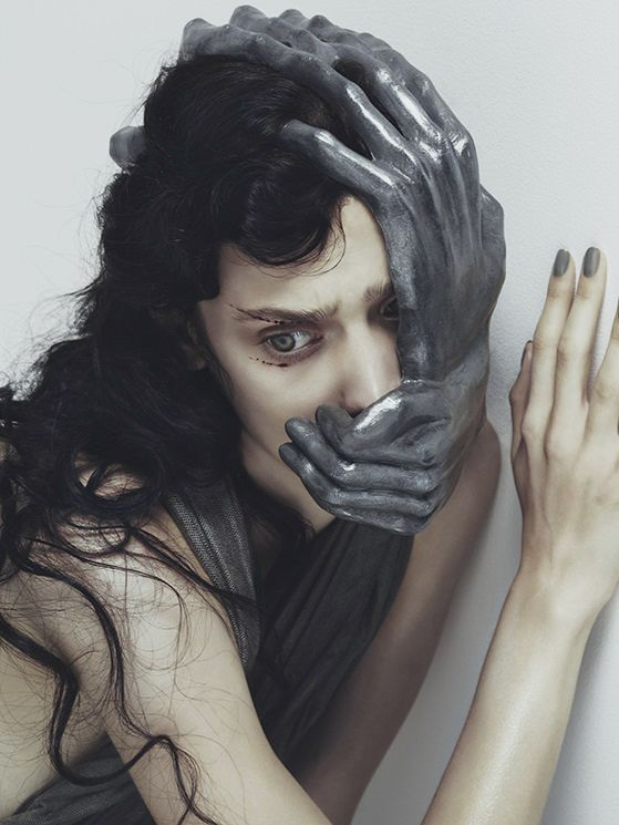"""""""Fear"""". Photographed by Nhu Xuan Hua for Vogue.it"""