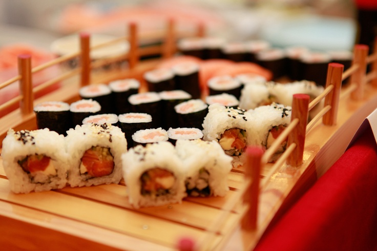 Sushi and white wine, a wonderful combination.