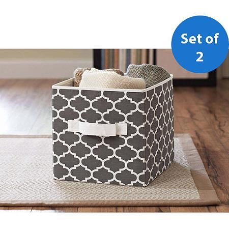 Better Homes and Gardens Collapsible Fabric Storage Cube, Set of 2 - Walmart.com