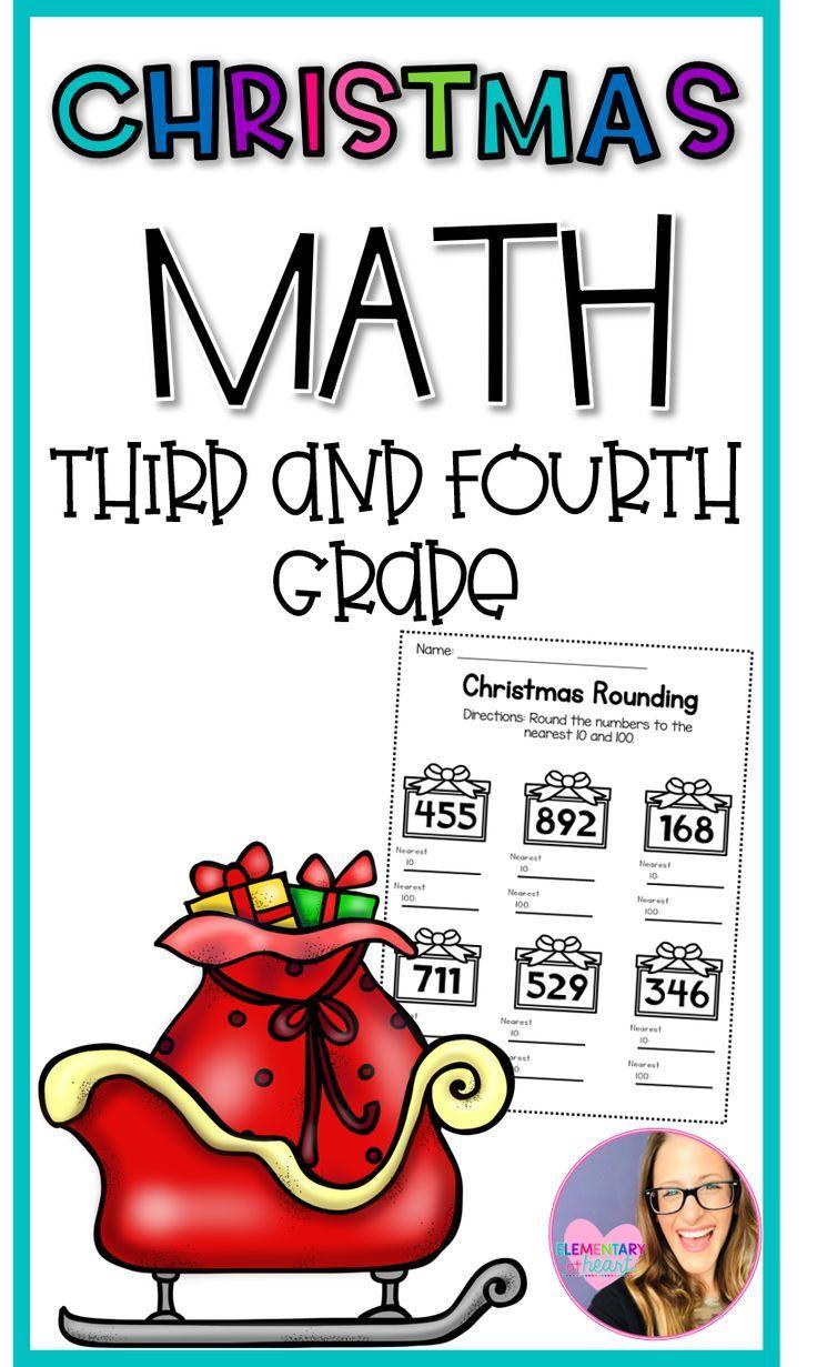 medium resolution of Christmas Math Worksheets (Third and Fourth Grade)   Christmas math  worksheets