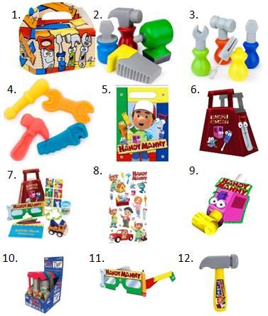 Handy Manny Birthday Party Ideas #KidsParties