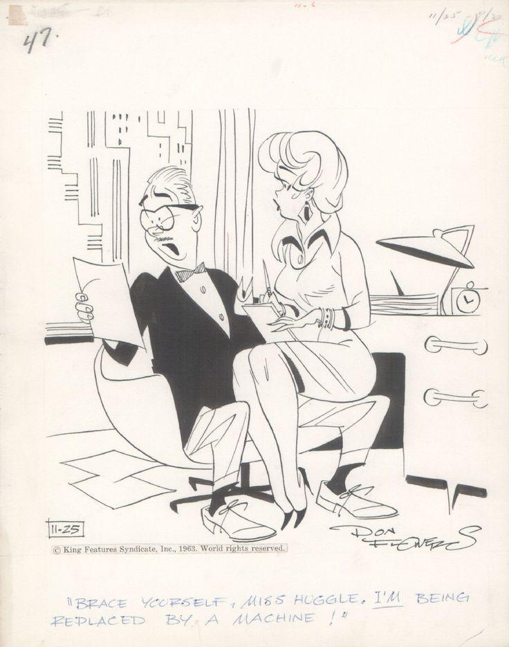 Secretary Comic Art