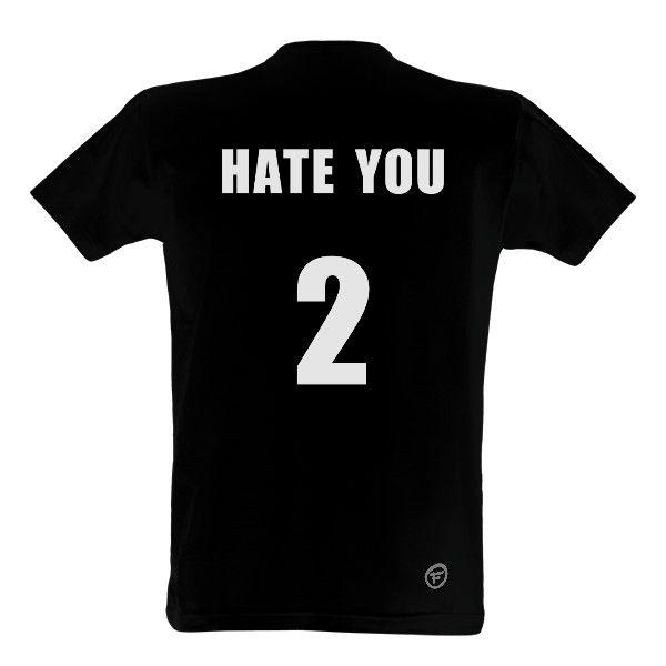 Tričko s potiskem hate you - na fotbal nebo florbal