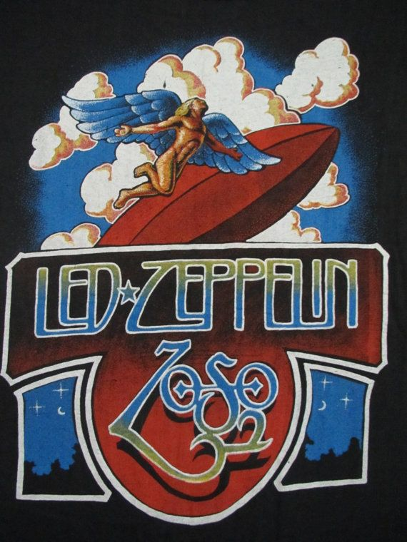 original LED ZEPPELIN vintage 70s tour SHIRT by rainbowgasoline, $300.00