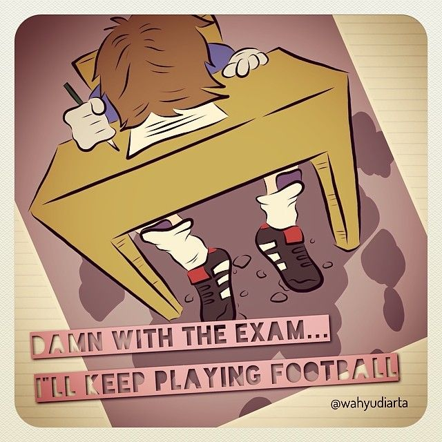"DAMN WITH THE EXAM...I""ll KEEP PLAYING FOOTBALL!! #art #artwork #artworkoftheday #draw #drawing #vectorart #illustration #cartoon #moldiv #adobe #adobeideas #doodles #unas #unas2014 #ujiannasional"
