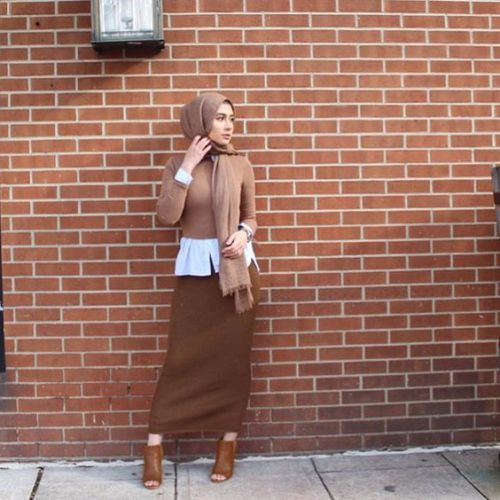Pencil skirt with hijab-The most trending hijab items – Just Trendy Girls