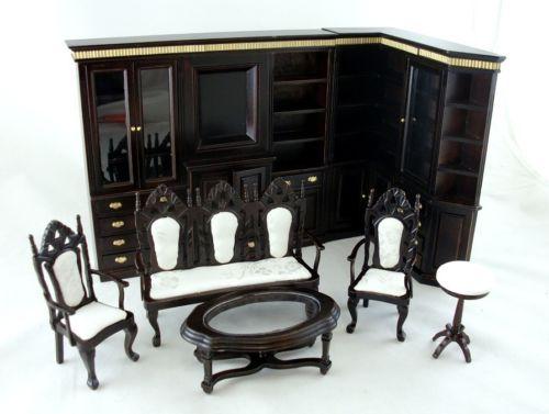 New Dolls House Miniature Darlington Hall Jacobean Lounge Library Furniture Set
