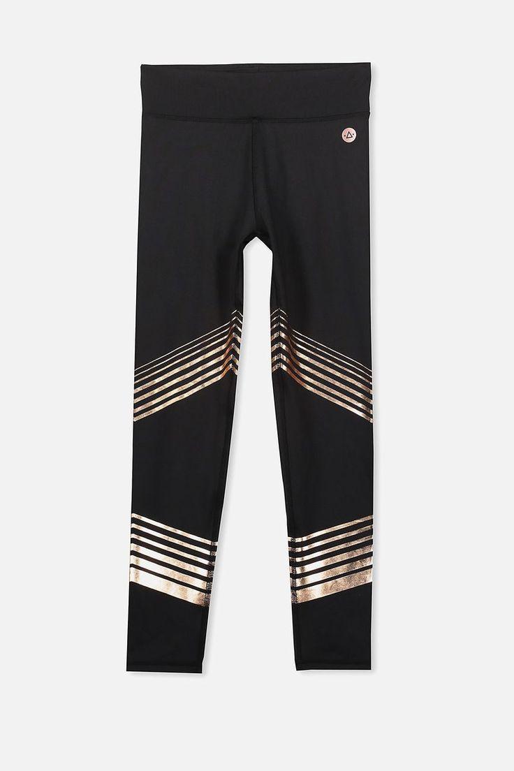 Free Active Full Length Legging, BLACK/ROSE GOLD LINES