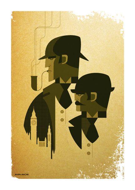 Art-Deco Sherlock Holmes
