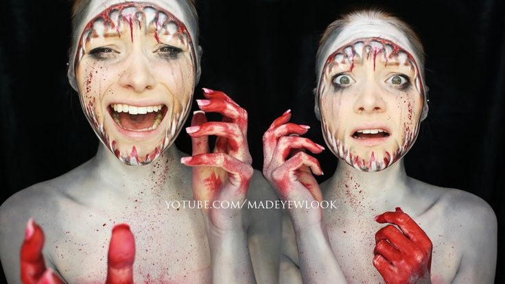 JAWS   Shark Makeup Tutorial by Alexys Fleming,  Madeulook on YouTube