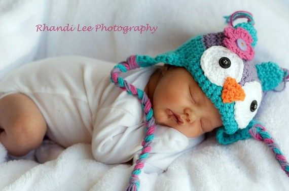 Baby Girl Crochet Owl Hat with Flower Made to by RainyDayDelightz, seriously cute!: Owl Baby, Girls Generation, Baby Owl, Newborns Pics, Baby Hats, Baby Girls, Crochet Owl Hats, Flower, Girls Crochet