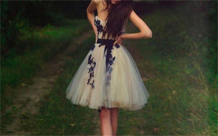 Short Tulle Sweetheart Knee-Length Homecoming Dresses, Evening Dresses,Charming…