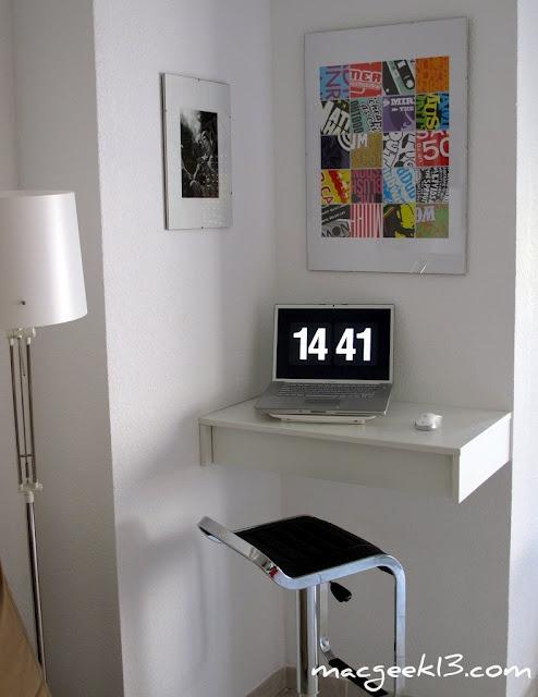 ikea hack. desk for small corners.